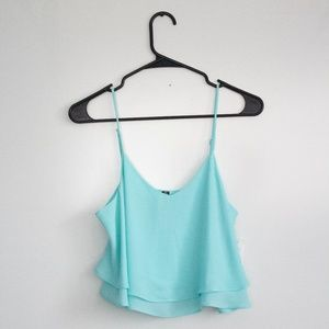 Coral Blue, Flowy, Cropped Tank - Design Lab *NEW*